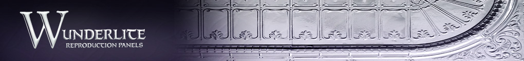 Wunderlite Reproduction Panels.  Pressed Metal Panels
